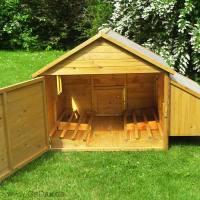 kleintierhaus mit auslauf 352 77. Black Bedroom Furniture Sets. Home Design Ideas